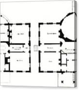 Barrel House Floor Plan In Landscape Canvas Print
