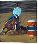 Barrel Racer Canvas Print