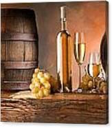 Barrels Grapes Canvas Print