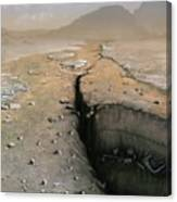 Barren Future Earth Canvas Print