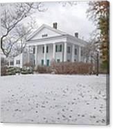 Barrington Hall In The Snow Canvas Print
