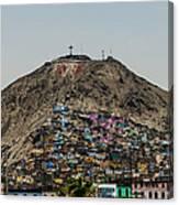 Barrio In Lima Canvas Print