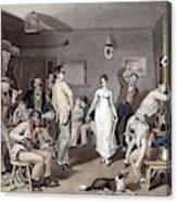 Barroom Dancing, C1820 Canvas Print