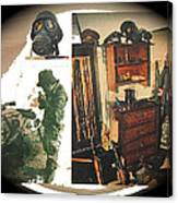 Barry Sadler And Part Of His Weapon's  Nazi Memorabilia Collection Collage Tucson Arizona 1971-2013 Canvas Print