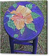 Barstool Hibiscus Canvas Print