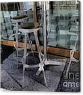 Barstools - Before The Night Begins Canvas Print