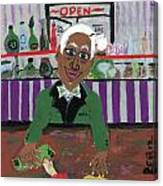 Bartender At The Country Club Canvas Print