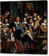 Bartholomeus Van Der Helst Banquet Of The Amsterdam Civic Guard In Celebration Of The Peace Of Munst Canvas Print