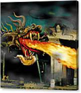 Barton The Mutant Salamander Canvas Print