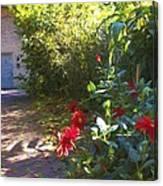 Bartram Red Flowers Canvas Print