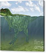 Baryonyx Swimming Amongst Some Canvas Print