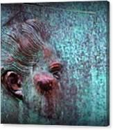 Bas Relief Profile Of Female Head Canvas Print