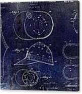 Baseball Patent Blue Canvas Print