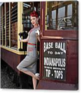 Base Ball To Day Color Version Canvas Print