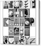 Baseball Alphabet Canvas Print