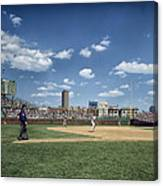 Baseball At Wrigley Field In The 1990s Canvas Print