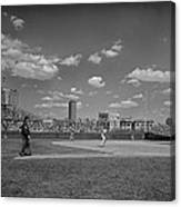 Baseball At Wrigley In The 1990s Canvas Print