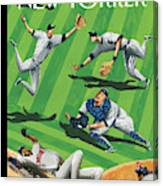 Baseball Ballet Canvas Print