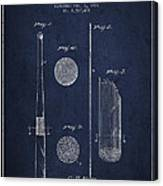 Baseball Bat Patent Drawing From 1921 Canvas Print
