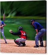 Baseball Batter Up Canvas Print