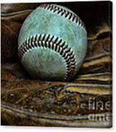 Baseball Broken In Canvas Print