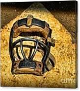 Baseball Catchers Mask Vintage  Canvas Print