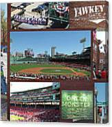 Baseball Collage Canvas Print