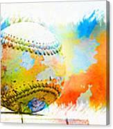 Baseball- Colors- Isolated Canvas Print