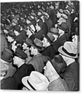 Baseball Fans At Yankee Stadium For The Third Game Of The World Canvas Print