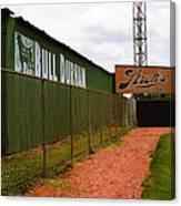 Baseball Field Bull Durham Sign Canvas Print