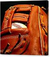 Baseball Glove With Ball Canvas Print