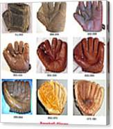 Baseball Glove Evolution Canvas Print