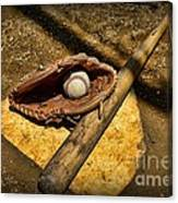 Baseball Home Plate Canvas Print