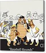 Baseball Hounds Canvas Print