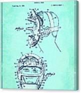 Baseball Mask Patent Blue Us2627602 A Canvas Print