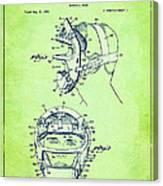 Baseball Mask Patent Green Us2627602 A Canvas Print