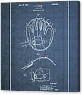 Baseball Mitt By Archibald J. Turner - Vintage Patent Blueprint Canvas Print