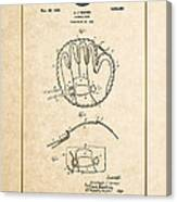 Baseball Mitt By Archibald J. Turner - Vintage Patent Document Canvas Print