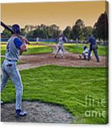 Baseball On Deck Circle Canvas Print
