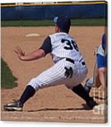 Baseball Pick Off Attempt Canvas Print