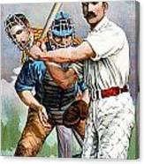 Baseball Player At Bat Canvas Print