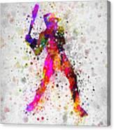 Baseball Player - Holding Baseball Bat Canvas Print