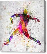 Baseball Player - Pitcher Canvas Print
