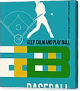 Baseball Poster Canvas Print