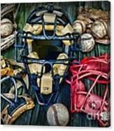 Baseball Vintage Gear Canvas Print