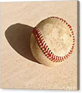 Baseball With Shadow Canvas Print