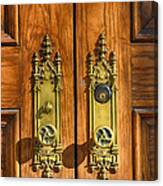 Basilica Door Knobs Canvas Print