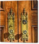 Basilica Door Knobs Canvas Print