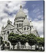 Basilica Of The Sacred Heart Paris France Canvas Print