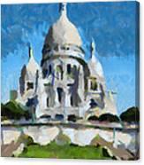 Basilica Sacred Heart- Paris Canvas Print